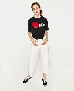 Imagem 1 de T-SHIRT COM PÊLO da Zara