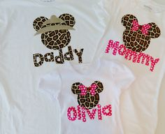 Items similar to Disney shirts for the family - baby, toddler, tween, adult t-shirt Minnie or Mickey Mouse applique personalized sizes 12 m -16, XS - XXL on Etsy. , via Etsy.