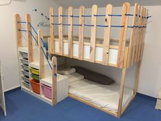 Hottest Absolutely Free Wall Decor Ideas Tips An Ikea kids' room remains to. - Hottest Absolutely Free Wall Decor Ideas Tips An Ikea kids' room remains to amaze the children - Toddler Bunk Beds Ikea, Toddler Rooms, Ikea Bunk Bed Hack, Kura Hack, Bed For Girls Room, Kids Bedroom, Lego Bedroom, Child Room, Trofast Ikea