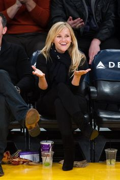 Reese Witherspoon spotted at L.A. Lakers game on Friday night Mar 8, 2013 @ #StaplesCenter  http://celebhotspots.com/hotspot/?hotspotid=6465&next=1