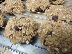 Oatmeal Millet Raisin Cookies - Gluten-free, fat-free, sugar-free and amazing!