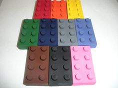 Lego Crayons for party favors!