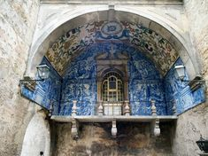 As Portugal became heavily influenced by Christianity, the azulejos still remained. Here, the tiles are used to depict Biblical scenes at the Nossa Senhora da Piedade (Our Lady of Mercy) church in Lisbon.