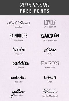 Free Spring Fonts 2015