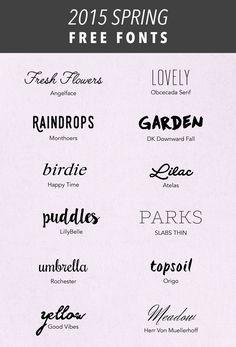 SIMPLE SANCTUARY | 2015 Spring Free Fonts | http://www.simplesanctuaryblog.com