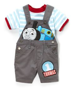 Dark Gray Thomas The Tank Engine Tee & Shortalls - Infant | Daily deals for moms, babies and kids