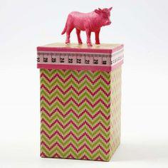 13262 Design papieren doos met stier
