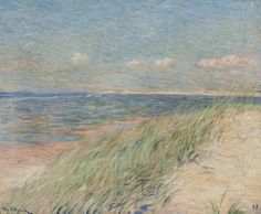 Théo van Rysselberghe 1862 - 1926 LES DUNES DE ZWIN, KNOKKE signed Théo V.Rysselberghe (lower left) and dated 87 (lower right) oil on canvas 21 7/8 x 26 3/8 in.