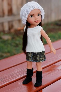 Hearts for Hearts Doll knit hat.