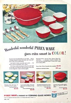 1953 PYREX VIntage Print Ad Original by ACMEVintageLimited on Etsy