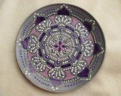 Handbemalter Teller der Mandala-Stil von ElenaPrikhodkoKnapp