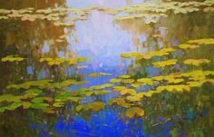 "Artist: Vahe Yeremyan Work: Original oil Painting, One of a Kind Medium: Oil on Canvas Year: 2016 Subject: Waterlilies Pond SIZE: 30"" x 45"" x 3/4''inch Unframed, Stretched on wooden bar, Gallery Wrapped  Vahe Yeremyan is an Armen"