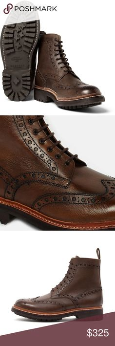 New Grenson Calf Leather Brogue Wingtip Boots US 9 Grenson Fred Calf Grain Leather Brogue Wingtip Boots  Excellent boots  New in box  The size is UK 8 or US 9  Brown  Calf Grain Leather   Check out my other items for sale in my store! Grenson Shoes Boots