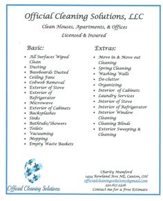 basic cleaning service price list cleaning tips pinterest rh pinterest com