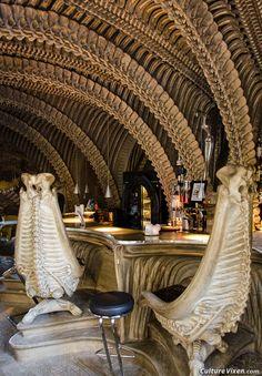 HR Giger Bar, Gruyères, Switzerland. (photo by Gayle Wheatley & Tyson Wintibaugh)