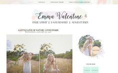 Emma Valentine Blogger Template by LovelyParisDesigns on Etsy