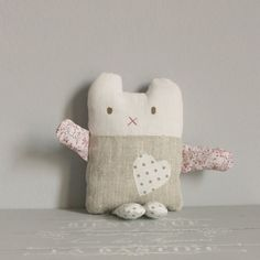 Softie bunny spot heart by roxycreations on Etsy