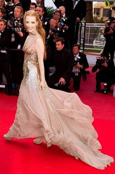Best Dressed of 2012: Jessica Chastain click here to see the rest of the list... http://www.idesigntimes.com/articles/2294/20121224/best-dressed-stars-2012-blake-lively-emma.htm