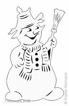 Новый год Вырезание Дед Мороз Снегурочка и весельчак Снеговик Бумага фото 4