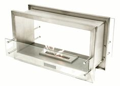 Ask a Fireplace Specialist:  Manufacturer: Bio FlamePart Number: Double Sided 38 inch FireboxeFireplaceStore Item Number: BIO-38FIREBOX16-DSFeatures Dimensions: 22 1/2 in. H x 38 in W x 12 3/4 in D Burner Length: 16 in. 17,000 BTU which can heat up to 742 sq ft 304 Stainless Steel Construction Brushed Stainless Steel Internal Frame See-Thru Model 8 mm Tempered Glass on Open Side Minimal Installation Prep for a quick installation anywhere 3 year Warranty Bio Fuel not included with pu...