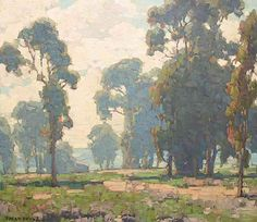 Edgar Payne (1882-1947). Eucalyptus Grove, Laguna Beach. Oil on canvas, 20 x 24.