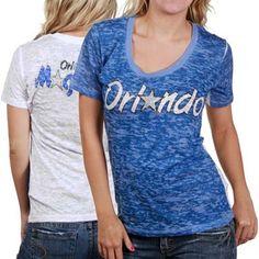 Touch by Alyssa Milano Orlando Magic Ladies Blue-White Sublimated Sheer Burnout Premium T-shirt