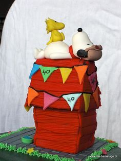 SNOOPY AND WOODSTOCK~cake 7
