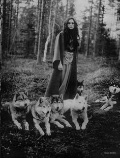 """Her home is that place in time where the spirit of women and the spirit of wolf meet - the place where mind and instincts mingle, where a woman's deep life funds her mundane life. It is the point where the I and Thou kiss, the place where, in all spirit, women run with the wolves"" -Clarissa Pinkola Estés"
