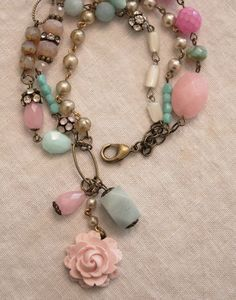 Cotton Candy bracelet.....love vintage pieces reinvented:)!!!