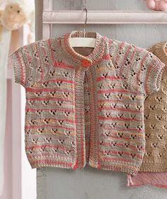 short-sleeved baby cardigan pattern