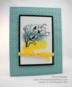 10 Min Tues Video: Watercolor Wash Serene Silhouettes - DOstamping with Dawn, Stampin' Up! Serene Silhouettes, Scrapbooking, Bird Cards, Card Making Techniques, Copics, Masculine Cards, Sympathy Cards, Creative Cards, Tutorial