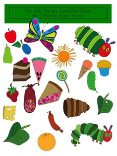 Love Two Teach: Life Cycle of a Caterpillar Clipart