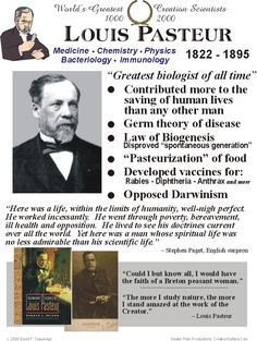 Louis Pasteur developed the germ theory of disease & revolutionized medicine.
