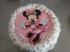 Minnie Mouse Birthday Cakes, Cupcake Birthday Cake, 3rd Birthday, Cupcake Cakes, Birthday Parties, Cupcakes, Bolo Minnie, Buttercream Cake, Cake Cookies