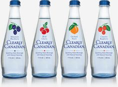 Oh how I miss these. Clearly Canadian Blackberry, Cherry, Peach and Raspberry Bottles.