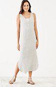 petite striped linen V-neck maxi dress | J.Jill