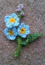 crochet forget-me-not NEW !