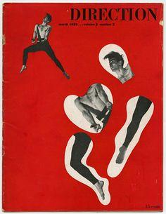 Modernism101.com | DIRECTION Volume 2, No. 2, March 1940. Paul Rand photomontage cover design; Minnesota Artists Union.