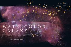 Watercolor Galaxy, Gold Watercolor, Back Art, Graphic Projects, Scene Creator, Texture Design, Line Design, Journal Cards, Brush Strokes