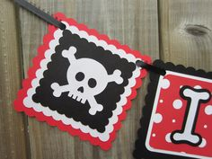 I am 1, pirate theme high chair banner, skull, first birthday, banner, ready to ship by lilcraftychickadee on Etsy https://www.etsy.com/listing/197399512/i-am-1-pirate-theme-high-chair-banner