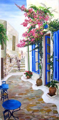 Original realistic painting  Mediterranean by ArtonlineGallery, $250.00