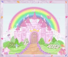 fairy castle wall mural - Google Search