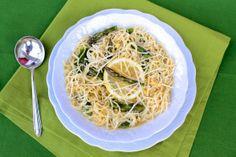 Asparagus Egg Noodle Soup