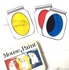 Color Mixing Jars with Mouse Paint Book #preschool #coloractivities #ece #printable
