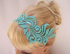 Delphinium lace headband...so sweet.