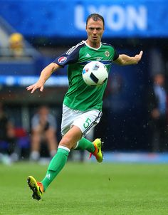Jonny Evans of Northern Ireland during the UEFA EURO 2016 Group C match between Ukraine and Northern Ireland at Stade des Lumieres on June 16 2016 in...