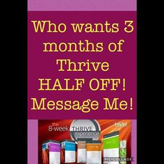 Good until 8:30pm PST. Message me!  #thrive #fitness #public #model #lifegoals #joinme #sharingiscaring #thrivingnotsurviving #investinyourself #thriveexperience #jointsupport #justthrive  #nutrition #supplements #helpothers #getonmylevel #qualityoflife #lifechanging #thriver #thrivepromoter #thrivelife #energy #thrivewithme #teambuilding #healthy #thriveforfree #alwaysthriving #healthandwellness #supplementalincome #natural