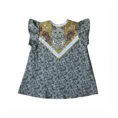 cat print baby toddler top Ready to Ship with FREE SHIPPING., via Etsy. // claradeparis.com ♥