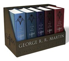 George R. R. Martin's A Game of Thrones Leather-Cloth Boxed Set (Song of Ice and Fire Series): A Game of Thrones, A Clash of Kings, A Storm of Swords, A Feast for Crows, and A Dance with Dragons von George R. R. Martin http://www.amazon.de/dp/1101965487/ref=cm_sw_r_pi_dp_9Lklwb16M6TJY