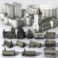 Medieval Buildingcollection2_Lowpoly